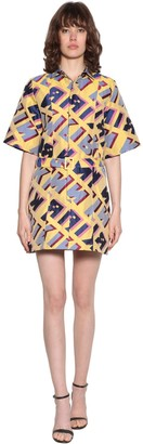 Kirin Typo Jacquard Mini Dress