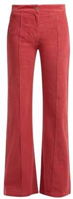 Masscob Howe Cotton Blend Corduroy Wide Leg Trousers - Womens - Pink