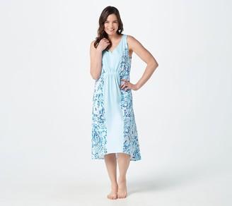 Carole Hochman Petite Length Painted Paisley High-Low Dress