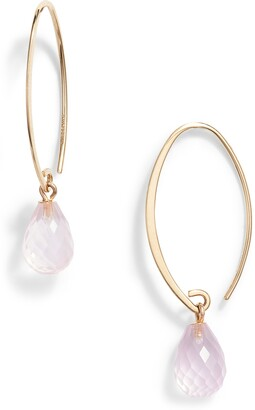 Jane Basch Designs Briolette Gemstone Hoop Earrings
