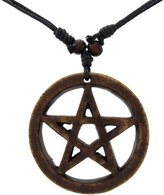 Things2Die4 Resin Pentagram Pendant with Waxed Cord Necklace
