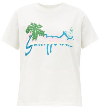 Gucci Hawaii-print Cotton-jersey T-shirt - White Print