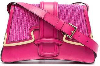 Alberta Ferretti Woven Panel Shoulder Bag