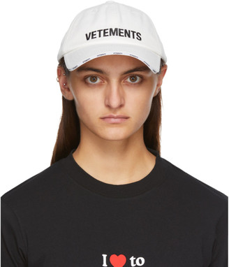 Vetements White Logo Cap