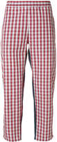 Gosha Rubchinskiy checked cropped trousers