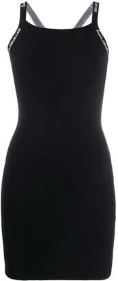 Alexander Wang Logo Strap Mini Dress