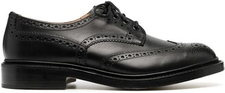 Tricker's Lace-Up Leather Brogues