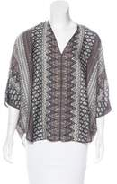 L'Agence Printed Oversize Blouse