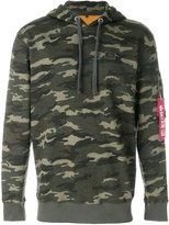 Alpha Industries camouflage pocket detail hoodie