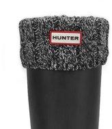 Hunter 6 Stitch Cable Boot Sock L Black/Grey