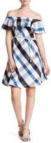 Joe Fresh Off-the-Shoulder Plaid Dress