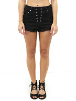 West Coast Wardrobe Jagger Destroyed Shorts in Black