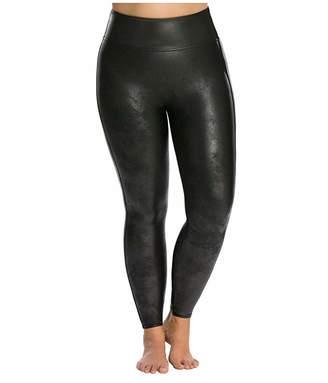 Spanx Plus Size Faux Leather Leggings (Black) Women's Clothing