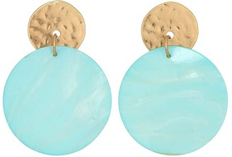 Robert Lee Morris Mother-of-Pearl Disc Earrings (Blue) Earring