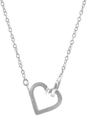 Anchor & Crew Little Heart Link Paradise Silver Necklace Pendant