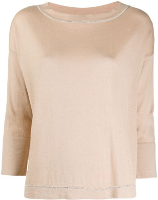 Snobby Sheep Fine Knit Cropped Sleeve Top