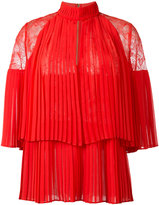 Elie Saab lace panel pleated top