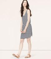 LOFT Striped Shirttail Tank Dress