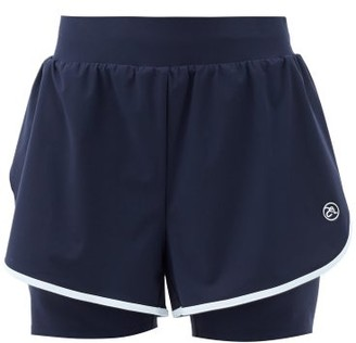 Ernest Leoty Fleur Shell And Jersey Shorts - Navy White
