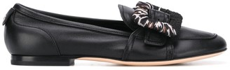 AGL Buckled Low Heel Loafers