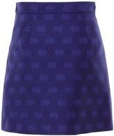 Gucci GG Diagonal Striped A-Line Skirt