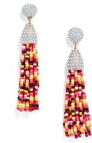 BaubleBar Piñata Tassel Earrings-Maroon/Yellow/Multi