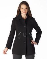 Preston & york textured-wool belted coat