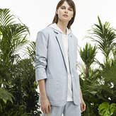 Lacoste Women's Fashion Show Seersucker Blazer