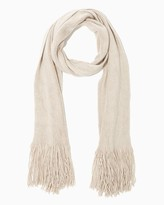 Charming charlie Metallic Fringe Long Scarf
