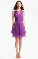Hilton Kathy Embellished Tulle Fit & Flare Dress