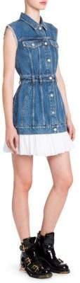 Alexander McQueen Sleeveless Denim Mini Dress