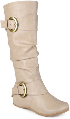 Journee Collection Paris Buckle Mid-Calf Boot