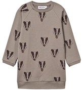 Mini Rodini Badger Sweat Dress Grey