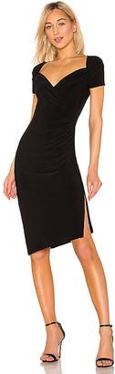 Norma Kamali x REVOLVE Sweetheart Side Drape Dress