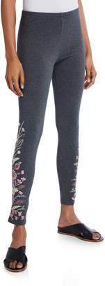 Johnny Was Plus Size Rosa Embroidered Leggings