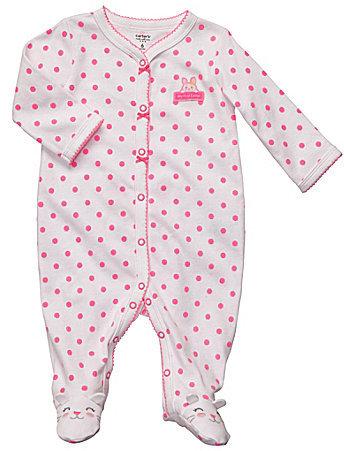 Carter's Carter ́s Newborn Polka-Dot Footed Pajamas