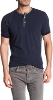 Report Collection Short Sleeve Printed Dot Henley Shirt