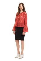 Country Road Lace Bell Sleeve Top