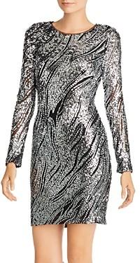 Aqua Sequin Animal Print Sheath Dress - 100% Exclusive