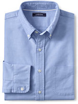 Lands' End Men's Big and Tall Traditional Fit Buttondown Solid Sail Rigger Oxford Shirt-White