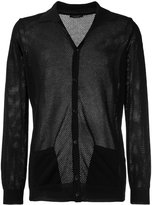 Roberto Collina perforated detail cardigan - men - Cotton - 46