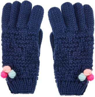 Accessorize Girls Pom Gloves - Multi