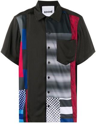 Koché Geometric Pattern Short-Sleeve Shirt