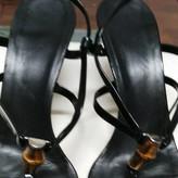 Gucci Black Patent leather Sandals