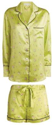 Olivia von Halle Silk Alba Floral Shorts Pyjama Set