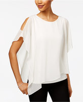 MSK Embellished Cold-Shoulder Chiffon Top
