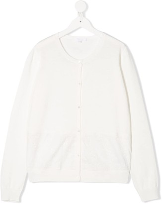 Chloé Kids TEEN long-sleeve fitted cardigan
