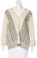 Derek Lam 10 Crosby V-Neck Cable Knit Sweater f