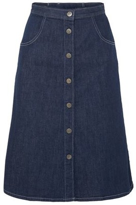 MiH Jeans Callcott Button-detailed Denim Skirt