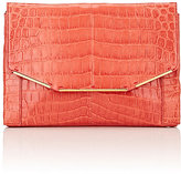 Lanvin WOMEN'S CROCODILE ENVELOPE CLUTCH